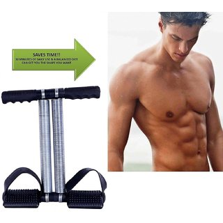 Ab Tummy Trimmer With Double Steel Spring Burn Off Calories(Color as per Availability)