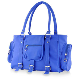 77980c496c02 Buy Chhavi Blue Plain Handbag-Online at Best Prices from Shopclues.com   Fashion