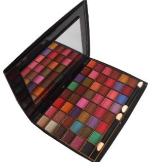 Miss gold 58 colors shimmery eyeshadow palette.