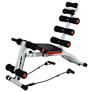 Skycandle Abs exerciser for six pack chest press expander / push up / oblique crunch / reverse AB crunch / AB crunch