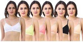 Womens Stylish Minimizer Daily Use Bra, Pack Of 6