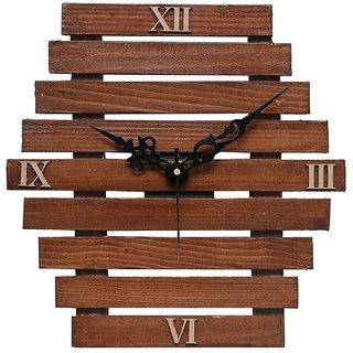 cartoonpur 105 inches wooden wall clock retro vintange 3d handmade decorative living room analog wall clock