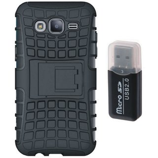 Oppo F5 Shockproof Kick Stand Defender Back Cover with Memory Card Reader
