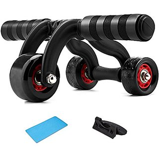 ESDDI Ab Roller 3 Wheels Abdominal Muscles Trainers Gym Portable House Exercise Equipment Abdominal Muscles Keep Fit Rol