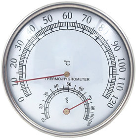Futaba Stainless Steel Temperature and Humidity Gauge