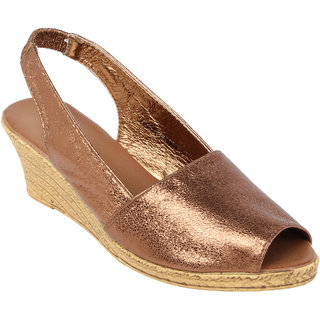 1f4e0afb51e Buy Catwalk Women Copper Sandals Online - Get 58% Off