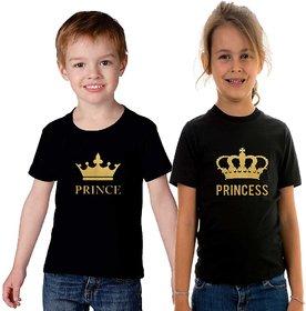 Prince Princess T shirt combo for brother and sister