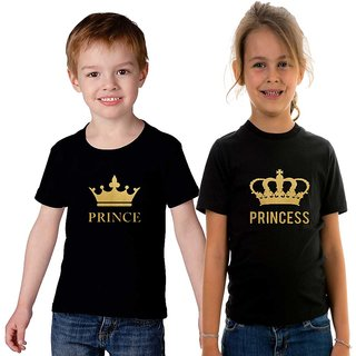 Prince Princess T shirt combo for brother and sister