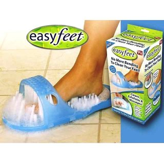 Easy Feet Foot Scrubber and Cleaning Slipper by Random