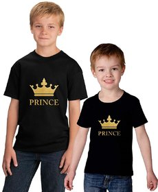 Black Color Brother Brother T-shirt Combo-Prince
