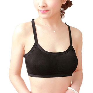 04d0c5ee5ef4f5 Buy Hari Om Creation Presents Black Color Cotton Lycra Bra. Online ...