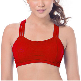 f71ced6172e52b Buy Hari Om Creation Presents Red Color Cotton Lycra   Spandex Bra ...