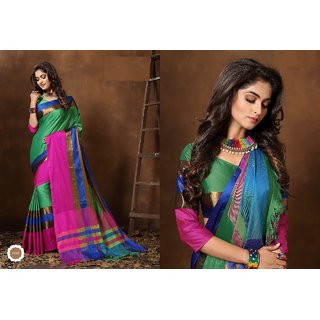762af8e0466fe4 Buy Indian Beauty Art Silk Cotton With Blouse Sarees Online - Get 83% Off