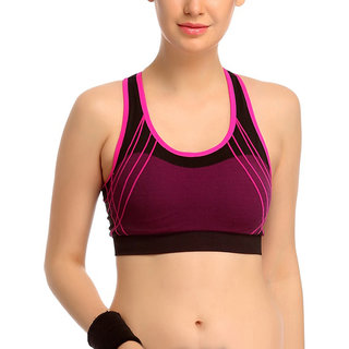 b816d911baed65 Hari Om Creation Presents Pink Color Cotton Lycra   Spandex Sports Bra.
