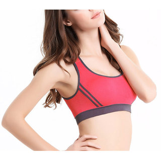 925ecfbfbb72f6 Buy Hari Om Creation Presents Orange Color Cotton Lycra Sports Bra ...