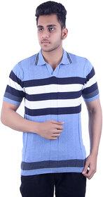 Ogarti Men's Blue Polo Collar T-shirt