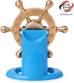 Globalurja Lucky Wheel for Office Desk(Pragati Chakram) with Blue Stand