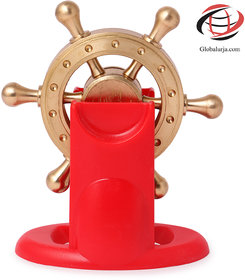 Globalurja Lucky Wheel for Office Desk(Pragati Chakram) with Red Stand