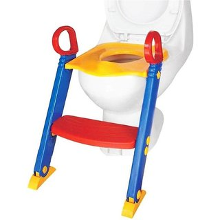 IBS Baby Toilet Trainer Chair Foldable Ladder PPotty SSeat  (Multiccolor)