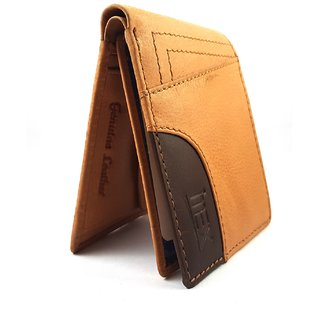 iMex Mens Beige Genuine Leather Wallet