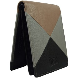 iMex Mens Multicolor Pattern Leather Wallet