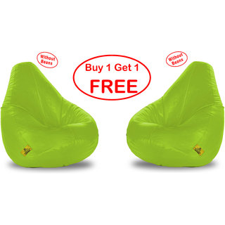 Beanbagwala  Original XXXL BEAN BAG-GREEN-COVERS(Without Beans)-Buy One Get One Free