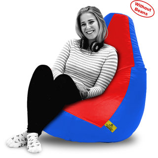 Beanbagwala XXL RED&R.BLUE BEAN BAG-COVERS(Without Beans)