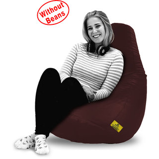 Beanbagwala Original XXL BEAN BAG-BROWN -COVERS(Without Beans)