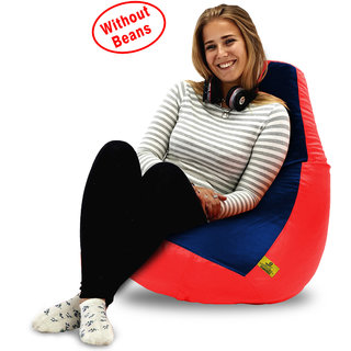 Beanbagwala XL RED&NAVY BLUE BEAN BAG-COVERS(Without Beans)