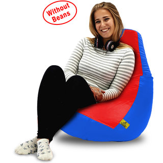 Beanbagwala XL RED&R.BLUE BEAN BAG-COVERS(Without Beans)