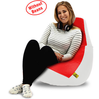 Beanbagwala XL RED&WHITE BEAN BAG-COVERS(Without Beans)
