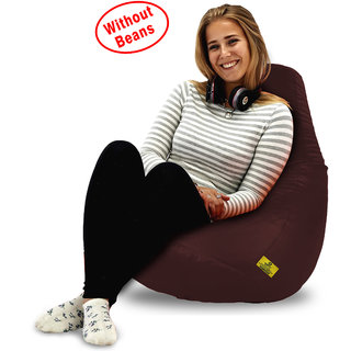 Beanbagwala Original XL BEAN BAG-BROWN-COVERS(Without Beans)