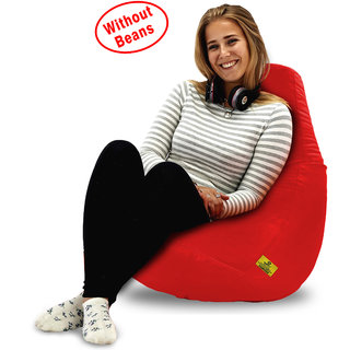 Beanbagwala Original XL BEAN BAG-RED -COVERS(Without Beans)