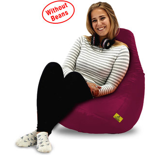 Beanbagwala Original XL BEAN BAG-MAROON -COVERS(Without Beans)