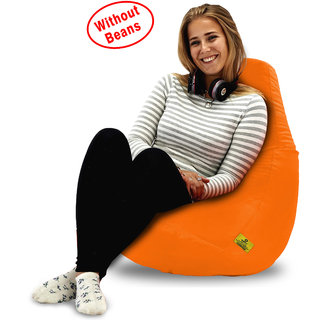 Beanbagwala Original XL BEAN BAG-ORANGE -COVERS(Without Beans)