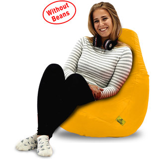 Beanbagwala Original XL BEAN BAG-YELLOW -COVERS(Without Beans)