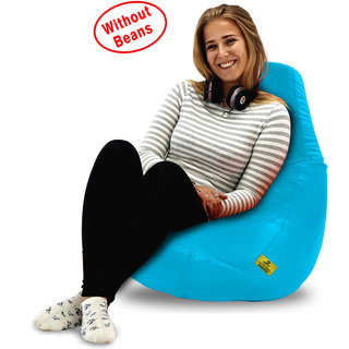 Beanbagwala Original XL BEAN BAG-TURQUOISE-COVERS(Without Beans)