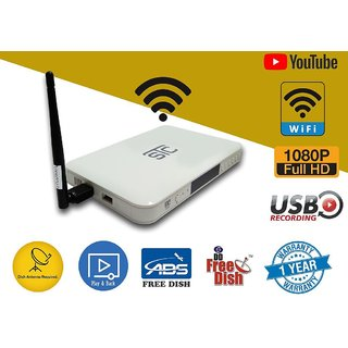 STC H-500 MPEG4 HD set top Box with WiFi (Lifetime Free) ( 2 USB Port + 1  HDMI Port )