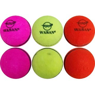 Wasan Tennis Cricket Ball -( Pack of 6 )