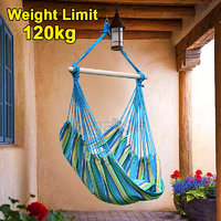 DC'S Brazilian Multi-Color Rope Hanging Hammock Swing Chair For Home Living Room With Coushions  S Hook.