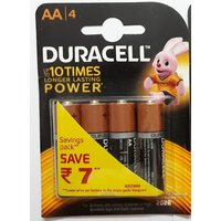 Duracell Alkaline Battery AA4 PACK OF 1 (4-Cell)
