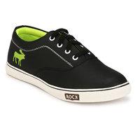 Franklien Men's Black Slip On Casual Shoes - 124723346