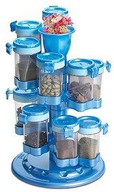 Masala Rack / Masala Box / Spice Reck 12 Jar Revolving Spice (Colour May Vary)