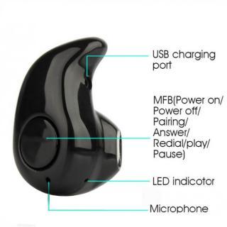 Shopkeeda Mini Wireless Invisible Bluetooth 4.1 In-Ear Earphone Earbud