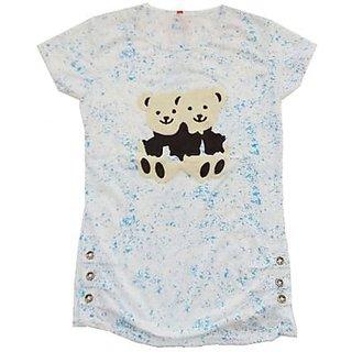 Adaspo Womens Polyster Teddy Bear Casual T- Shirts ( Blue  Best Fit 28 To 32 )