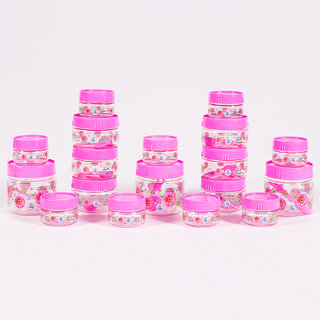 Print Magic Container Pink  Pack of 18  50ml 9 pcs 150ml 6 pc 250 ml 3 pcs