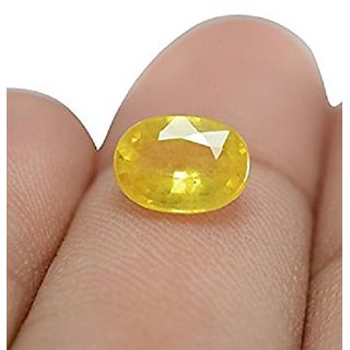 9.25 Ratti !00 Natural Yellow Pukhraj By Lab Certified