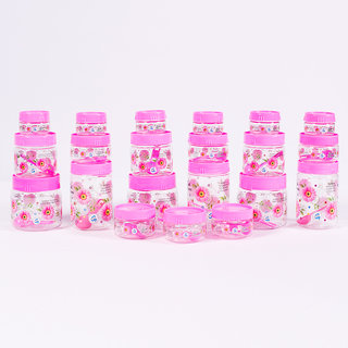 Print Magic Container Pink  Pack of 21  50 ml 6 pcs 150 ml 6 pcs 250 ml 3 pcs 450 ml 3 pcs 550 ml 3 pcs