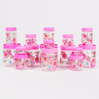 Print Magic Container Pink  Pack of 16  1500 ml 3 pcs 1000 ml 3 pcs 450 ml 3pcs 550 ml 2 pcs 250 ml 2 pcs 150 ml 3 pcs