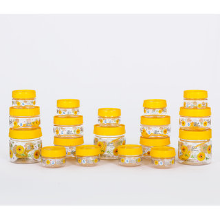 Print Magic Container Yellow  Pack of 18  50ml 9 pcs 150ml 6 pc 250 ml 3 pcs
